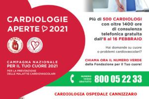 """""""Cardiologie Aperte"""", tre giorni di consulti telefonici gratuiti al Cannizzaro"""